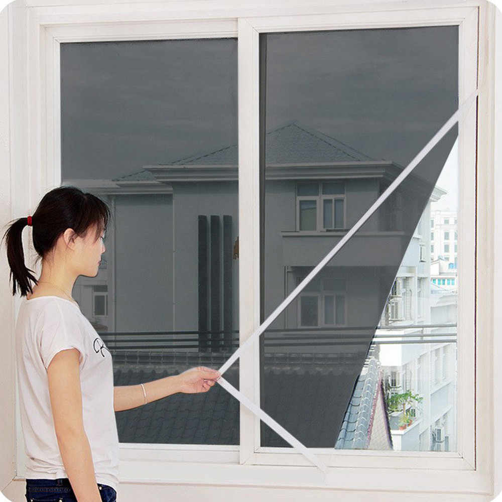 2019 New Indoor Insect Fly Screen Curtain Mesh Bug Mosquito Netting Door Window Anti Mosquito Net For Kitchen Window 611