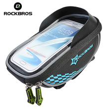 ROCKBROS Bike Frame Front Tube Bag Cycling Riding Bag Pannier Smartphone & GPS Touch Screen Case Bicycle Accessories 6 Colors(China)