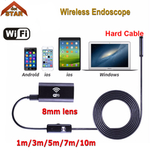 Buy IOS Android Wifi Endoscope Camera Stardot 1m 3m 5m 7m 10m Hard Cable 8mm Waterproof Iphone Endoscope Inspection Borescope for $19.92 in AliExpress store