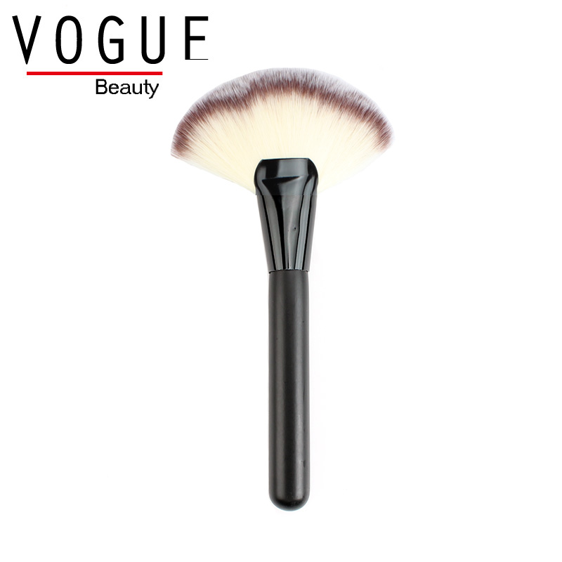 LARGE FAN BRUSH for Highlighting Soft Apply Face Powder blush contour blending shading highlight cheeks makeup brush for make up(China (Mainland))