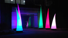 8ft outdoor decoration inflatable cones with led light