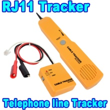 AK NEW Durable Handheld Telephone Cable Tracker Phone Wire Detector RJ11 Line Cord Tester Tool Kit Tone Tracer Receiver