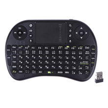 English Russian Version Mini 2.4GHz Wireless QWERTY Keyboard Touchpad for PC Pad/Andriod TV Box/xBox360/PS3/for HTPC/IPTV(China)