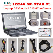 For mercedes diagnostic scanner mb star c3 multidiag pro sd c3 and with 2015 07 Software HDD laptop D630 car tester MB STAR C3(China)