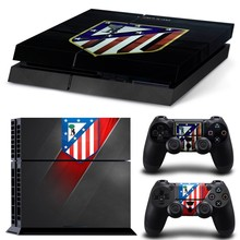 Spanish Spain Famous Football Club Team Vinyl Cover Skin Sticker for PS4 Sony PlayStation 4 Console & 2 Controller Skins