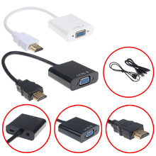 Hot Sale V 1080P HDMI to VGA With Audio Converter Adapter USB Power Video Cable s