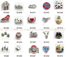 20 choice for your choose ! 10pcs Floating Locket Charm Fit Living Floating Memory locket As Christmas Gift