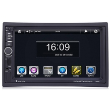 "7020G 2 Din Car MP5 Player with Rearview Camera Bluetooth FM GPS 7"" Touch Screen Car Audio Stereo With Wheel Remote Control 2Din"