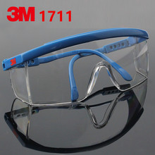 3M 1711 Safety Glasses Goggles Anti wind sand Dust shock medical hospital polishing protective eyewear Glasses(China)