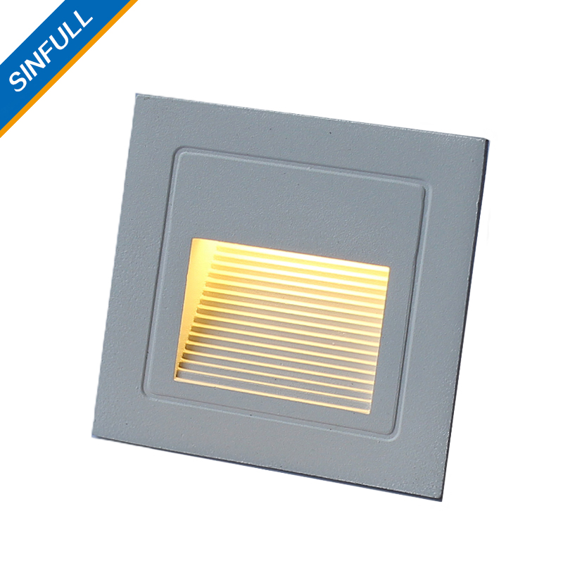 Outdoor IP66 Waterproof Led Stair Light Aluminum 3W Recessed LED Step Lamp  Pathway Wall Corner Lamps ...