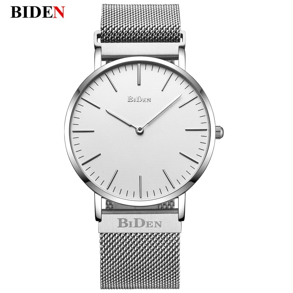 Luxury Milanese Loop Strap Bracelet Watches Men Simple Ultra thin Wristwatch Casual dress Quartz men watches relogio masculino<br>