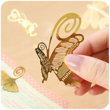 1pc cute metal bookmark sunflower butterfly monkey four leaf clover Dragonfly kawaii bookmark clip animal vintage for book