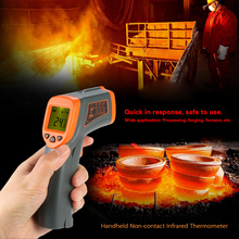 -32-500C Digital LCD thermometer IR Infrared temperature gauge tester Non-contact Pyrometer + Backlight Centigrade Fahrenhei(China)