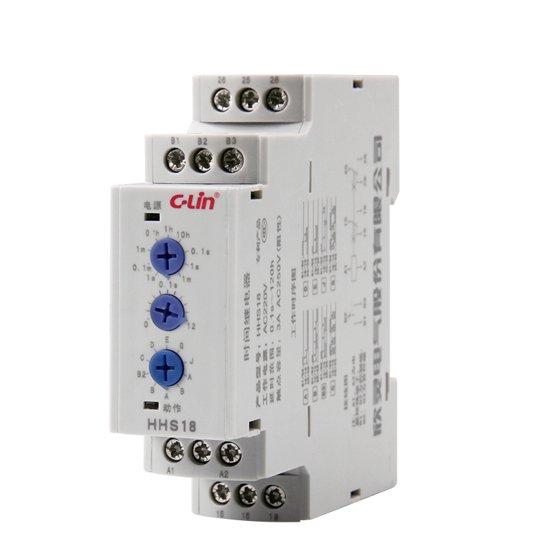 Electronics Type Time Relay HHS18 More Function Time Delay 0.1 Second -120 Hour Adjustable AC380V<br>