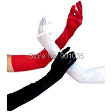 FREE SHIPPING 1Pair Bridal Long Finger Gloves Ladies Satin Fancy Party Dress Prom Evening Wedding 3Colors