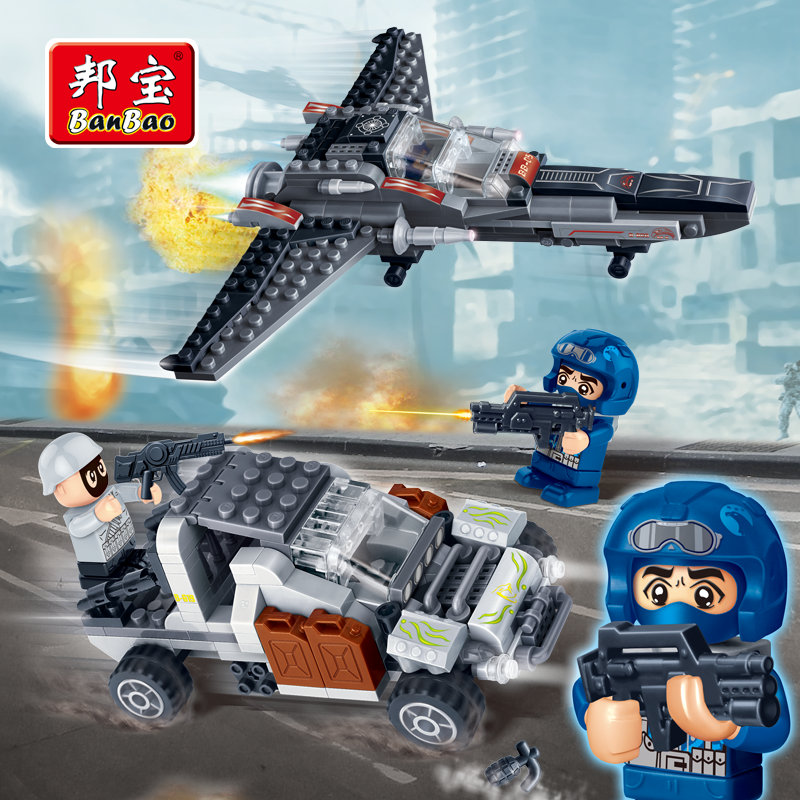 BanBaoTop Cop Educational Building Blocks Toys For Children Kids Gifts Mini City Hero Police Car Plane Weapon Eagle Viper<br><br>Aliexpress