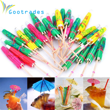 gootrades Quality Paper Drink/ Cocktail Parasols /Umbrellas Luau Sticks / Party 50 pcs POP wedding decoration