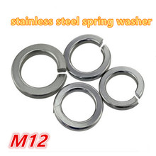100pcs m12 304 stainless steel a2 - 70 spring washer / gasket split lock washer / shim elastic washer(China)