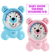 Cartoon Panda Plastic Baby Children Kids Room thermo hygrometer indoor outdoor Thermometer Thermograph Celsius hydrothermograph(China)