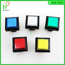 2pcs/lot 33*33mm square LED lighted Illuminated push button MANE Jamma arcade game machine accessories(China)