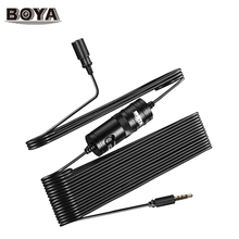 Original BOYA BY-M1 Lavalier Omnidirectional Condenser Microphone for Canon for iPhone DSLR Camcorder Audio Recorders Label Lav