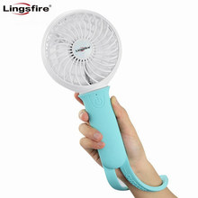 Portable Mini Fan 3 Speeds Rechargeable USB Fan Personal Handheld Fan with LED Light Silicone 18650 Li-ion 2200mAh Battery(China)