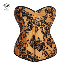 Wechery Sexy Corsets and Bustiers Shapewear Corselet Burlesque Sexy Corset Lingerie Gothic Clothing Corsage Basque S-XXL(China)