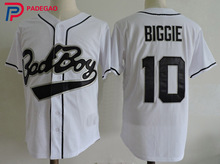 Cool Biggie Smalls Bad Boy Baseball Jersey 10# Movie Stitched Sewn Black Retro Cheap Throwback for gift(China)