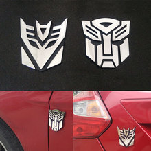 Car Styling Transformers Design Funny 3D Car Sticker For Truck bmw lada ford renault vw RAV CRV Waterproof ABS Plastic Car Decal