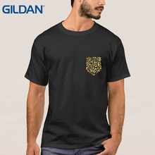 Fake Pocket Leopard T Shrt North American Animal Element T Shirt Summer Unisex More Size And Colors Tees Black
