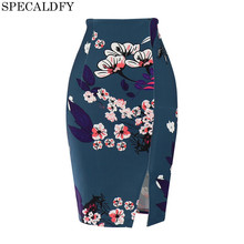 Buy S-5XL Plus Size Pencil Skirt Summer 2018 Fashion Floral Print Bodycon High Waist Skirts Womens Sexy Mini Skirt Faldas Mujer for $11.98 in AliExpress store