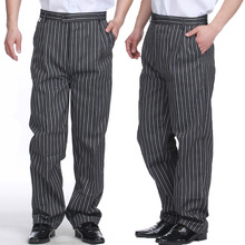 Summer food service Free Shipping autumn Cook pants work pants checked striped chef pants unisex chef trousers