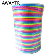 DIA 2MM 100 Yards/Roll Satin Rattail Nylon Cord/String Macrame Koord for Bracelet Necklace Braided DIY Beading String Thread(China)