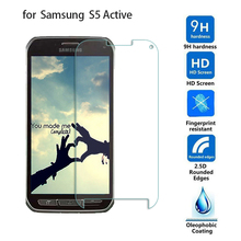 For Samsung Galaxy S5 Active Anti-Explosion Tempered Glass 9H 0.26mm Premium Protective Toughened Film HD Clear Screen Protector(China)