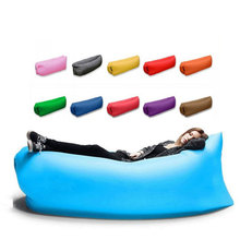 Top quality lazy Beach bed Air Sofa Lounge Camping of sleeping laybags air lounger Fast inflatable lazy bag Weight 1kg