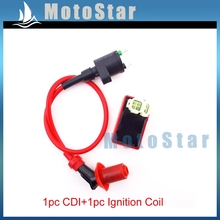 GY6 50cc 125cc 150cc Red Racing Ignition Coil 6 Pins AC CDI Box For Chinese Moped Scooter ATV Quad Go Kart