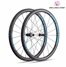 UCI Approved Rolling Stone 40Aero High TG Carbon Road wheelset 700c 40mm clincher with swisstop black prince [blue color(China)