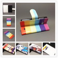New Butterfly Flower Flag Designer Wallet Flip Stand Book Cover Case For Nokia Lumia 630 635 freeshipping