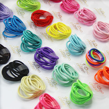 New Fashion 500pcs/bag Colorful Child Kids Bright Hair Holders Rubber Bands Hair Elastics Accessories Girl