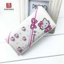 cartoon Hello kitty KT cat wallet cartoon student cute long wallet Fashion Clutch Casual Women Clutch Purses Carteira