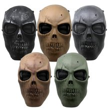 New Skull Skeleton Outdoor Army Tactical Paintball Full Face Protection Safety Mask Half Sports Helmet V2