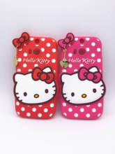 New 3D Cartoon Hello Kitty Case Pendant Bowknot Soft Silicon Cover for HTC One M8 Rubber Phone shell
