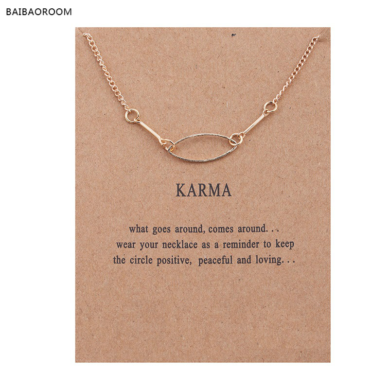 New Gold Plated Bones Karma Oval Alloy Clavicle Pendant Short Necklace