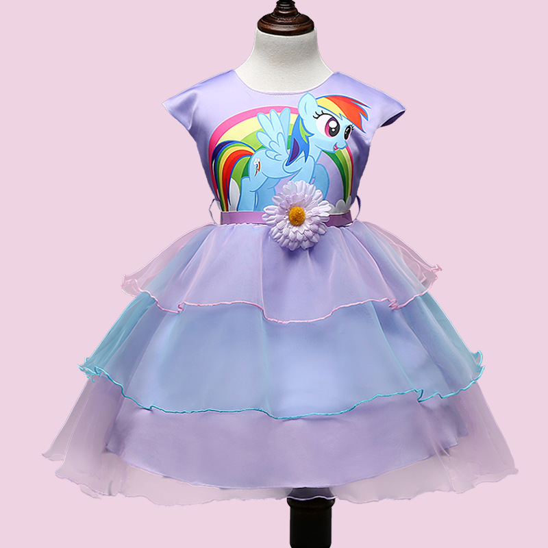 My Girls Summer Dresses Little Girls Pony Princess Dress Net Yarn Baby Party Dresses Girls Kids 8 Years Clothes Monya<br><br>Aliexpress