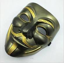 The Black For Vendetta Party Cosplay Masque Mask Anonymous Guy Fawke New Fancy Costume Accessory Macka Mascaras Halloween