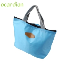 New Fashion Oxford Fabric Waterproof Picnic Insulated Food Storage Box Tote Portable Lunch Bag  Mar 20 OCARDIAN