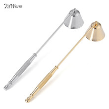 KiWarm 1PC New Arrival Stainless Steel Candle Snuffer Wick Trimmer Bell Shaped Oil Lamp Trim Trimmer Scissor Cutter Tool 20CM(China)