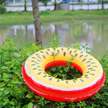 Swimming Ring Giant Pool Float fruit  Style Adult Swimming Ring Floating Rings Inflatable Toy Life Buoy 60~90cm PVC hot selling