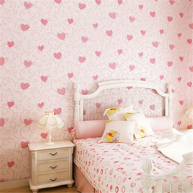 beibehang papel de parede Non-woven Home Decoration Wallpaper Kids Room Princess Blue/pink Cartoon Wall Paper 3d Papel De Parede<br>
