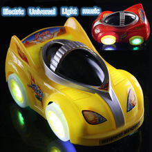 2016 New Arrival Stunning wheels Toy LED Universal Music Car Toy oyuncak Automatic Steering Lighting Car Toy Best Gift For Kids